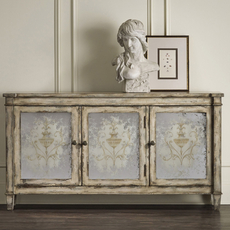 Hooker Furniture Accents 3 Door Mirrored Chest