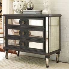 Hooker Furniture Accents 3 Drawer Mirror Chest