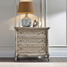 Hooker Furniture Chatelet 3 Drawer Fretwork Nightstand in White
