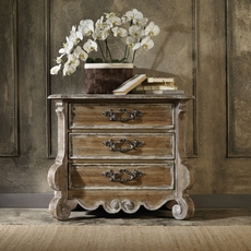 Hooker Furniture Chatelet 3 Drawer Nightstand in Light Brown