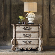 Hooker Furniture Chatelet 3 Drawer Nightstand in White