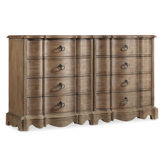 Hooker Furniture Corsica 8 Drawer Dresser in Natural Finish