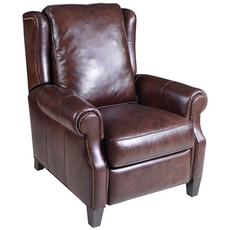 Hooker Furniture Montana Livingston Leather Pushback Recliner