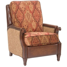 Hooker Furniture Leather and Fabric Pushback Recliner