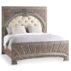 Hooker Furniture True Vintage King Size Upholstered Panel Bed