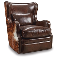 Hooker Furniture Isadora Coffee and Dark Brindle HOH Swivel Club Chair
