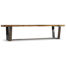 Hooker Furniture Live Edge Bench with Rustic Metal Base