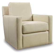 Hooker Furniture Milestone Cream Swivel Club Chair