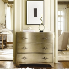 Hooker Furniture Sanctuary 3 Drawer Shaped Front Gold Chest
