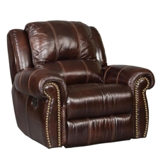 Hooker Furniture Seven Seas Saddle Brown Glider Recliner