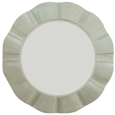 Hooker Furniture Sunset Point Round Wave Mirror in St. John's Blue