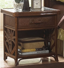 Hospitality Rattan Cancun Palm 1 Drawer Nightstand
