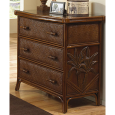 Hospitality Rattan Cancun Palm 3 Drawer Chest