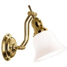 Clearance Hudson Valley Hadley 1-Light Adjustable Wall Sconce OVFCR121786