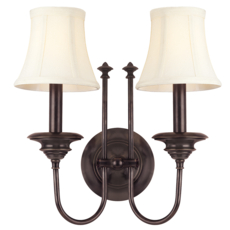 Clearance Hudson Valley Lighting Yorktown Wall Sconce in Old Bronze OVFCR121789