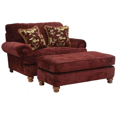 Jackson Belmont Chair and a Half in Claret