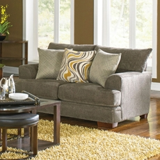 Jackson Crompton Loveseat in Pewter and Mellow Yellow