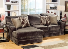 Jackson Everest Chaise Sofa in Chocolate