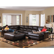 Jackson Lawson Leather Sectional in Godiva - You Choose the Configuration
