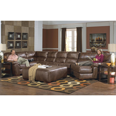 Jackson Lawson Leather Sectional in Chestnut - You Choose the Configuration