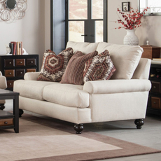 Jackson Platinum Westchester Loveseat in Chilipepper and Hemp