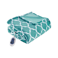 Beautyrest Heated Ogee Throw in Aqua by JLA Home