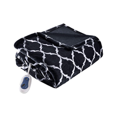 Beautyrest Heated Ogee Throw in Black by JLA Home