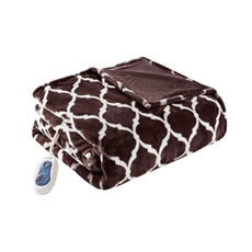 Beautyrest Heated Ogee Throw in Brown by JLA Home