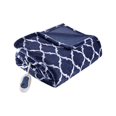 Beautyrest Heated Ogee Throw in Dark Blue by JLA Home