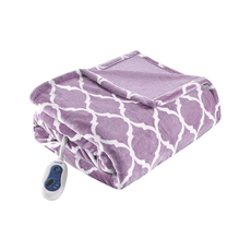 Beautyrest Heated Ogee Throw in Lavender by JLA Home