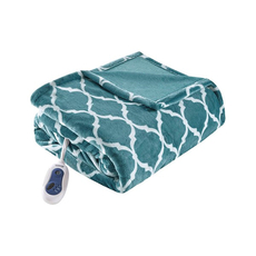 Beautyrest Heated Ogee Throw in Teal by JLA Home