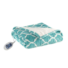 Beautyrest Ogee Heated Snuggle Wrap in Aqua by JLA Home
