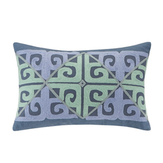 Echo Design Kamala Oblong Pillow in Blue by JLA Home
