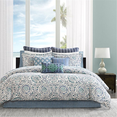 Echo Design Kamala Queen Comforter Set in Blue by JLA Home
