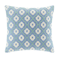 Echo Design Kamala Square Pillow in Blue by JLA Home