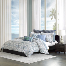 Echo Design Kamala Twin Duvet Cover Mini Set in Blue by JLA Home