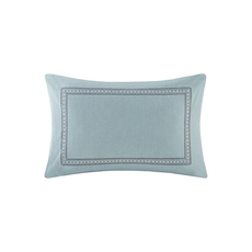 Echo Design Larissa Embroidered Decorative Pillow in Blue by JLA Home