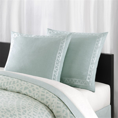 Echo Design Mykonos Euro Sham in Blue by JLA Home