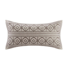 Echo Design Odyssey Embroidery Oblong Pillow in Ivory by JLA Home