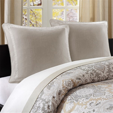 Echo Design Odyssey Euro Sham in Ivory by JLA Home
