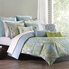 Echo Design Sardinia Queen Duvet Mini Set in Green by JLA Home