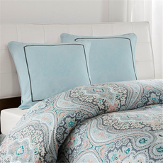 Echo Design Sterling Euro Sham in Light Blue by JLA Home