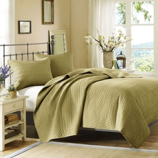 Hampton Hill Velvet Touch Coverlet Set in Cilantro by JLA Home