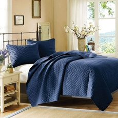 Hampton Hill Velvet Touch King Coverlet Set in Marine by JLA Home