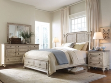 Kincaid Weatherford Westland Storage Bed in Cornsilk