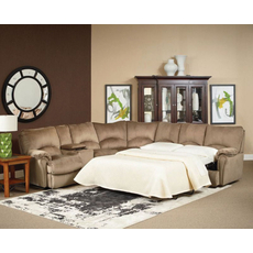 Lane Alpine Reclining Console Sleeper Sectional - You Choose the Fabric