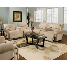 Lane Evans Reclining Rocking Loveseat with Console - You Choose the Fabric