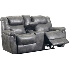 Lane Fastlane Montgomery Double Reclining Storage Loveseat in Padre Grey