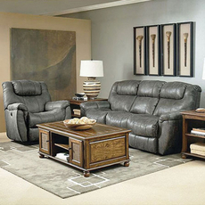 Lane Fastlane Montgomery Double Reclining Sofa with Massage in Padre Grey