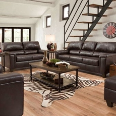 Lane Home Essentials Soft Touch Bark 3 Piece Living Room Set with Sleeper Sofa and Recliner
